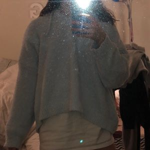 Listicle Sweaters - Cropped Shoe Fly Hoodie/ Sweater